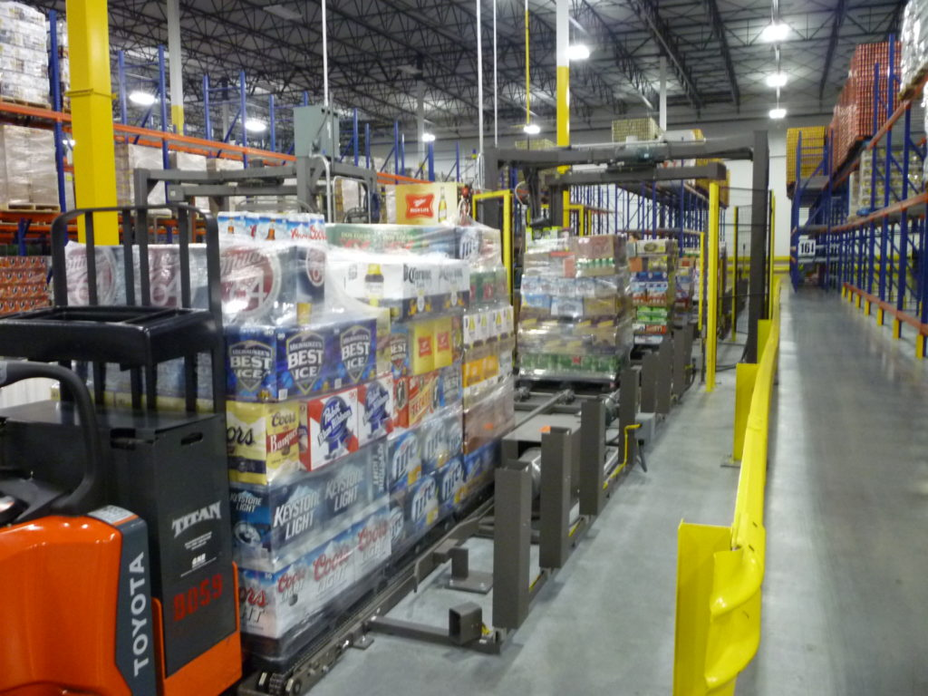Stretch wrappers that can take 3 pallets at a time increase productivity.