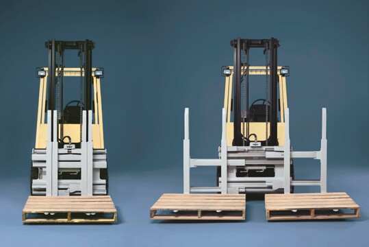 Single double attachment can increase receiving productivity.
